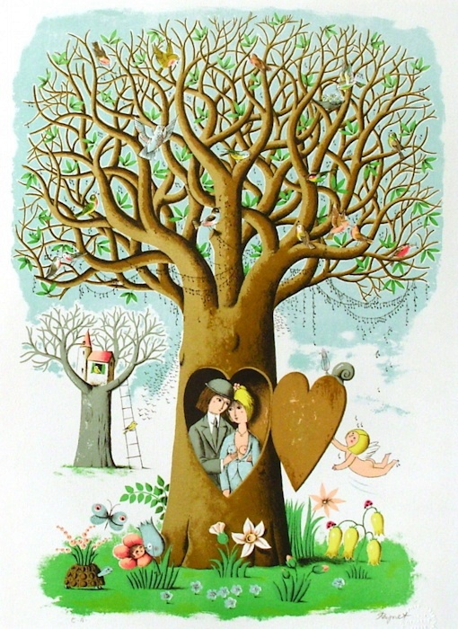 """""""Saint Valentin"""" par Raymond Peynet"""