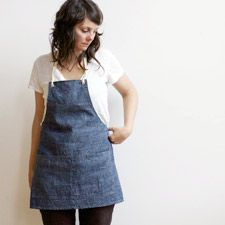 Cotton Denim Apron from Small Batch Production $65