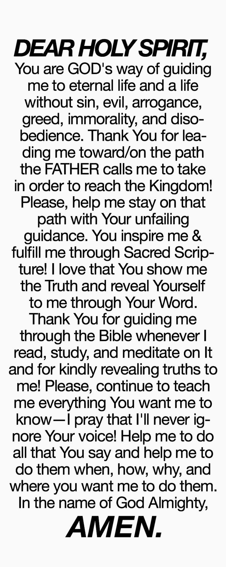 Prayer to the Most Holy Spirit of God! ✝️✨☺️