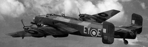 Handley Page Halifax correct configuration for late 1943 in 76 Sq (though this isn't from 76)