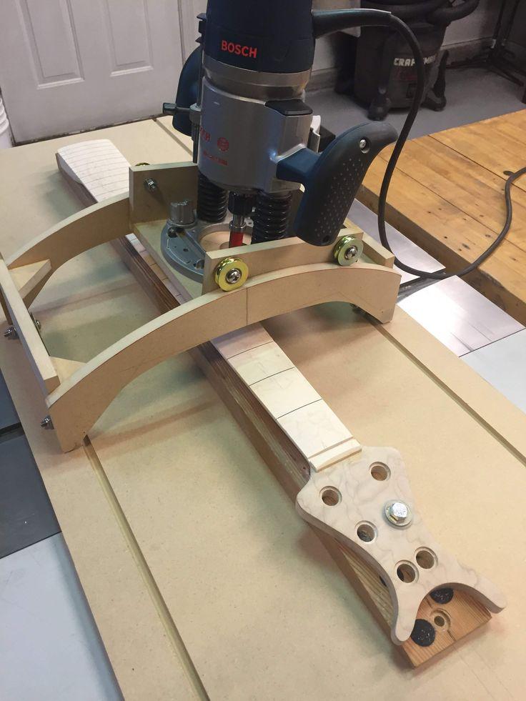Multi-function Fingerboard Radius Jig by LedBelli Bass Guitars