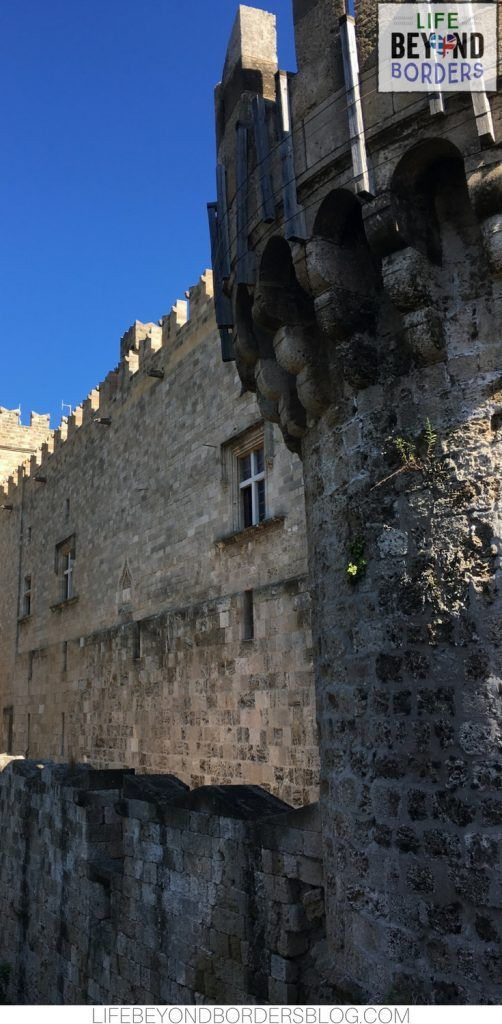Castle and walls of Rhodes Old Town - Greece
