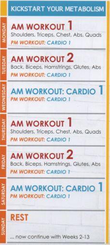 Jillian Michael's Body Revolution Workout Calendar