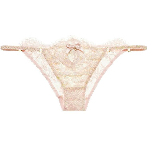 Agent Provocateur Saadia lace briefs (£79) ❤ liked on Polyvore featuring intimates, panties, lingerie, underwear, undies, pastel pink, lacy panties, pink lace lingerie, pink panties and pink lace panty