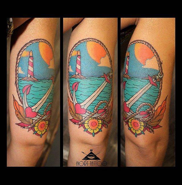 Nort 2016 #traditionaltattoo  #colorfulltattoo #seatattoo #ntgallery  #tattoocommunity  #ink #inked #norttattoo  #4AWay #thebestspaintattooartists