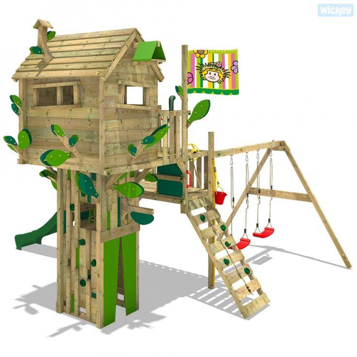 Good Baumhaus mit Rutsche Smart Treetop Green