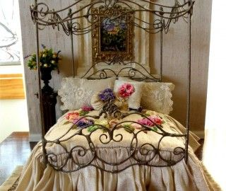 Best 6 Wrought Iron Canopy Bed Frame Picture Idea & 177 best Canopy Bed images on Pinterest | Bed canopies 3/4 beds ...