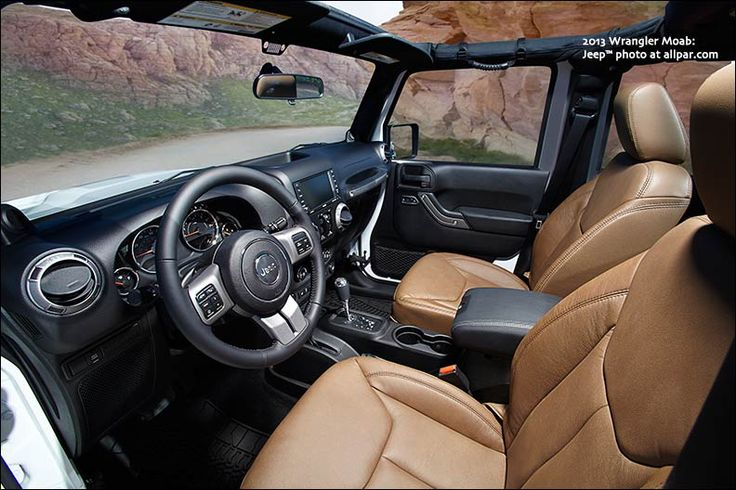 2013 Jeep Wrangler Moab interior