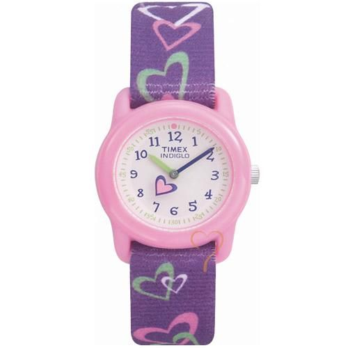 Ρολόγια : Ρολόι Timex Kids Purple With Hearts Washable Strap - T7B111