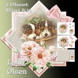Puppies in a Basket on Craftsuprint - View Now!