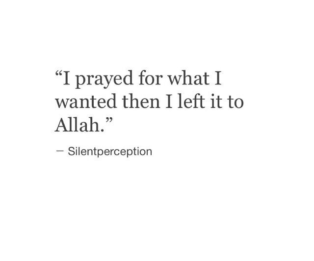 Left it to Allah