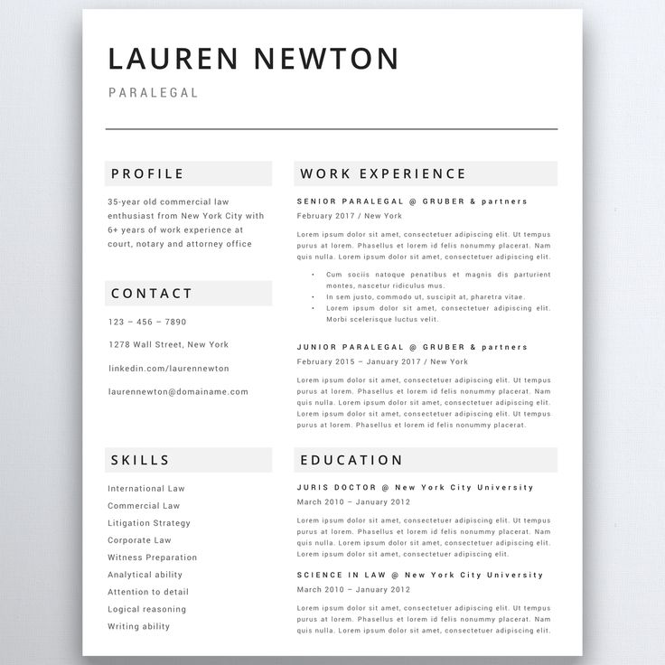 32 best Modern Resume Templates images on Pinterest Modern resume - wall street resume template