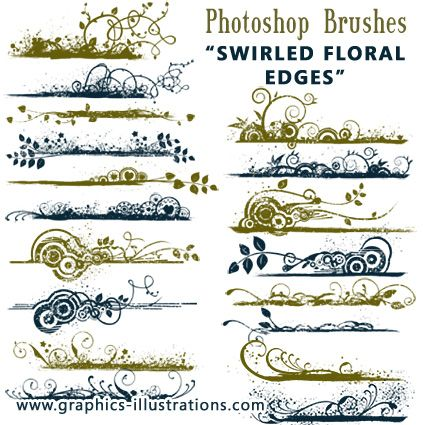 """Some nice (and FREE) brushes to jazz up your Photoshop projects.  There are others on this site that are really nice too, especially the """"smoke"""" brushes."""