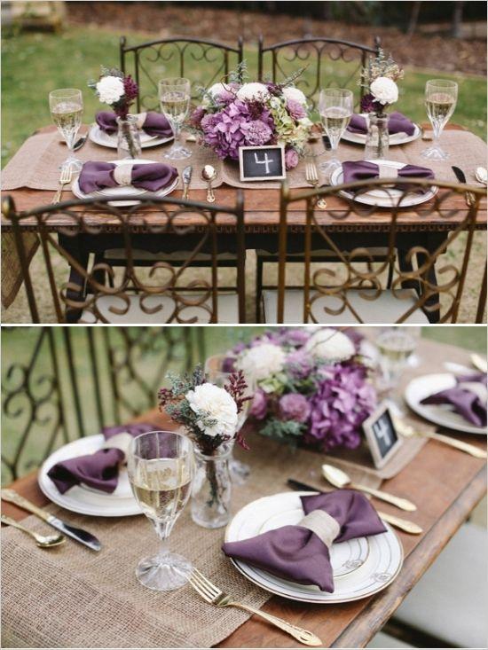 168 best rustic country organic style wedding decor images on purple wedding decor ideas junglespirit Choice Image