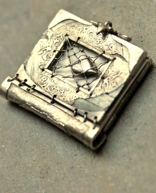 Sterling Silver Book of Lost Love ~ by Christi Anderson ~ This miniature book is 2 inches by an inch & a half.