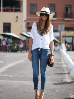 Verano Outfit and White shirts on Pinterest