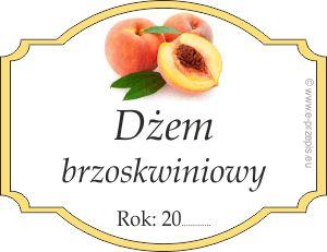 Naklejka na dżem brzoskwiniowy