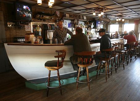 Boat Shaped Bar  Cape Cod Style  Boat restaurant Bar