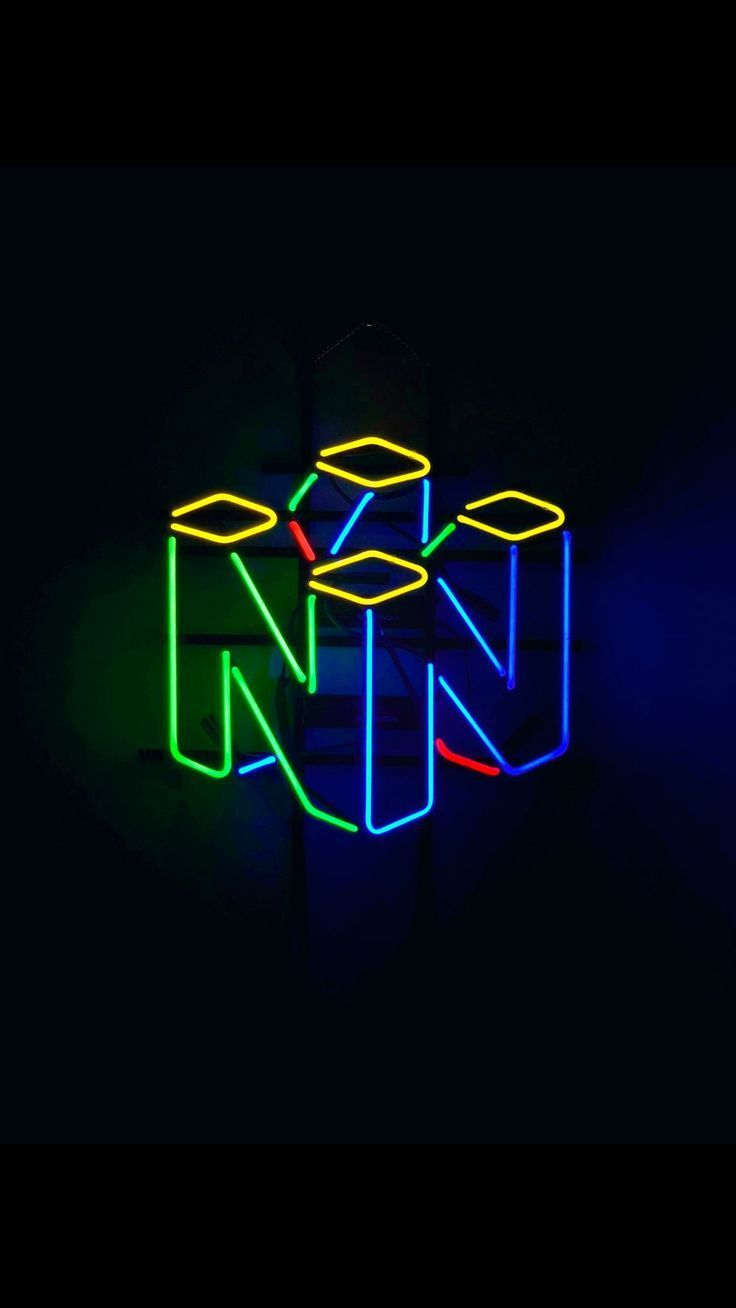 Neon Nintendo 64 Sign The Color Illuminates Great And It Goes Nicely With The Dimensions Retro Games Wallpaper Retro Wallpaper Gaming Wallpapers