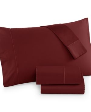 Hotel Collection 525 Thread Count Cotton Twin Xl Sheet Set - Red