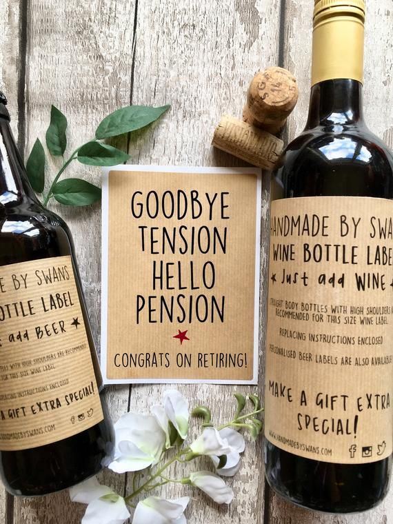 Retirement Gifts Image By Krysta Lynn Funny Wine Labels Wine Label Wine Bottle