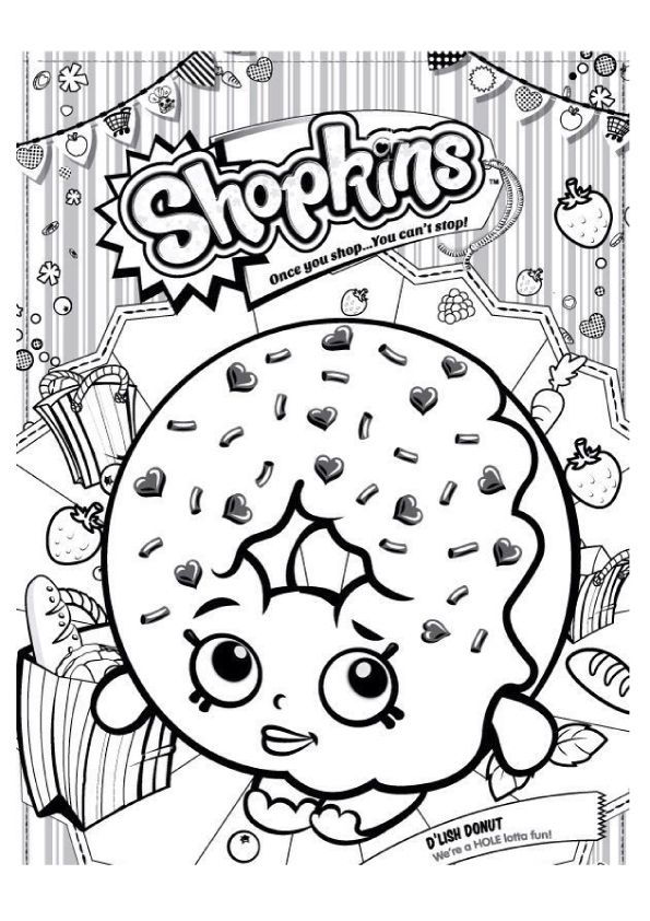 Top 10 Donut Coloring Pages For Your Toddler Shopkin