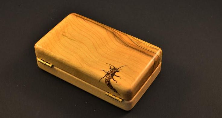 Beautiful Custom Wood Fly Boxes Fish Fly Box Wooden