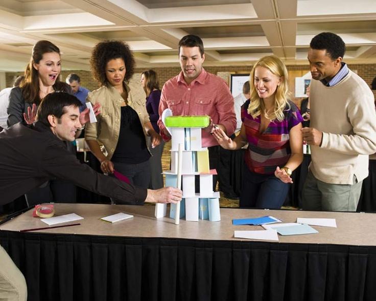Tower team building activity Staff meetings Pinterest