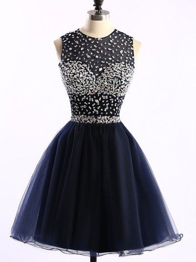 Charming Prom Dress,Tulle Homecoming Dresses,Navy Blue Homecoming Dress,Short