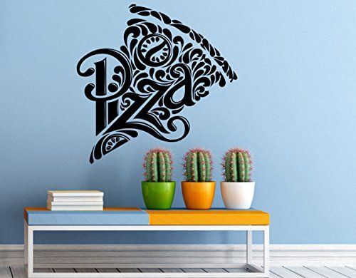 Pizzeria wall decal vinyl sticker pizza restaurant