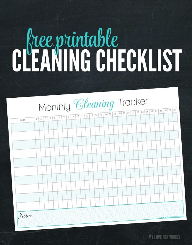 Easily track your chores for every day of the week with this free printable cleaning checlklist.