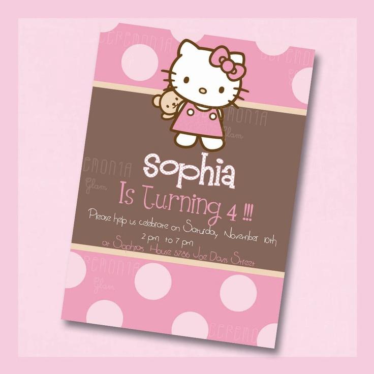printable hello kitty invitations