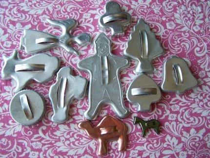 old christmas cookie cutters - Metal Christmas Cookie Cutters