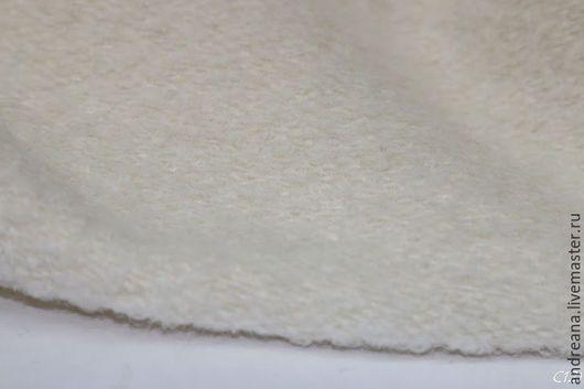 Шитье ручной работы. Пальтовая ткань букле молочное шерсть+ангора. Andreana, итальянские ткани. Ярмарка Мастеров. Ангора, шерсть