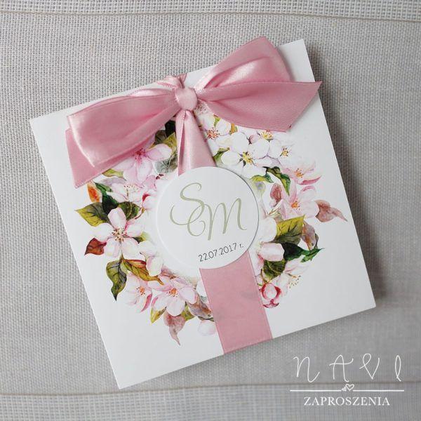 Delikatne kwiatowe zaproszenia ślubne