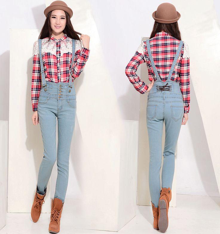 Mujeres de los pantalones vaqueros más el tamaño de cintura alta botones mujer trajes vaqueros pantalones