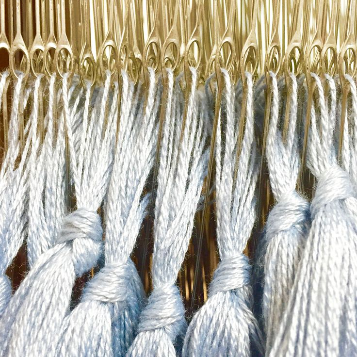 Half way there, 312 threads to go! Starting on the second half of the Hutchings & Brant collection today. #sustainablefashion #sustainable #sustainableliving #sustainabletextiles #sustainabledesign #eco #ecofriendly #ecotextiles #plantbased #vegan #crueltyfree #organic #weaver #woven #woventextiles #textile #textiledesign #textiledesigner #luxury #luxuryyarn #luxurylife #luxurylifestyle #madeinhampshire #madewithlove #footpowered #organiccotton #organiccottonyarn #bamboo #bambooyarn