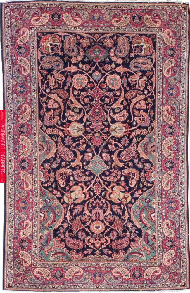 Iran Kashan Size 4 3 X 6 9 I Oscar Isberian Rugs Chicago Carpet Handmade Rugs Oushak Carpets