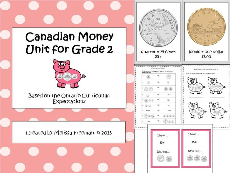 **Best Seller** A Canadian money unit based on the Ontario Curriculum expectations for Grade 2.  Check out the preview file to see what you get!