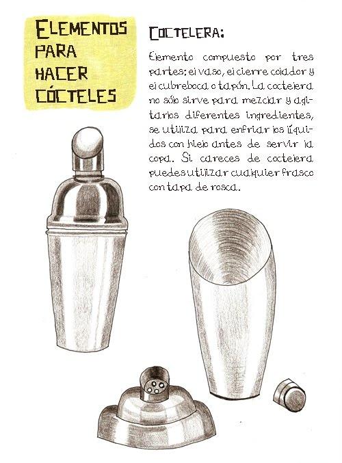 Coctelera: Utensilios
