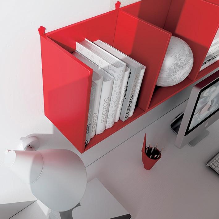 """#Arredamento #Cameretta Moretti Compact: Collezione 2012 """"Team"""" > Kids >> kc14 #mensole http://www.moretticompact.it/kids.htm"""