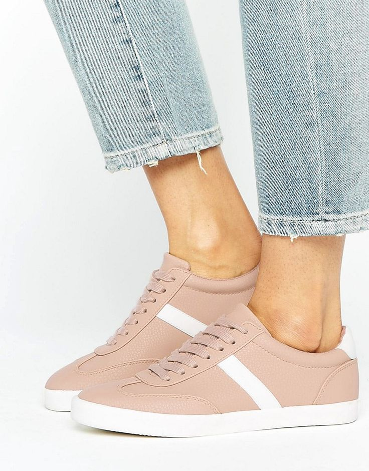 Buy it now. ASOS DELPHINE Stripe Lace Up Trainers - Beige. Trainers by ASOS Collection, Textured faux-leather upper, Lace-up fastening, Side stripe, Shaped cuff, Moulded tread, Wipe with a damp sponge. ABOUT ASOS COLLECTION Score a wardrobe win no matter the dress code with our ASOS Collection own-label collection. From polished prom to the after party, our London-based design team scour the globe to nail your new-season fashion goals with need-right-now dresses, outerwear, shoes and denim…