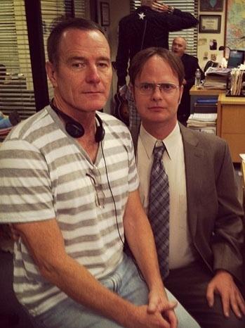 'Breaking Bad's' Bryan Cranston to Direct 'Office' Episode!!Bryans Cranston, Breakingbad, Funny, Dwight Schrute, The Offices, Bryan Cranston, People, Breaking Bad, Rainn Wilson