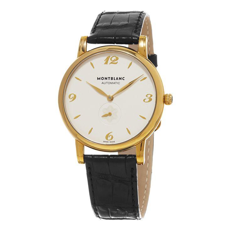 Mont Blanc Men's 107116 'Star Classique' Dial Black Strap Swiss Automatic Watch