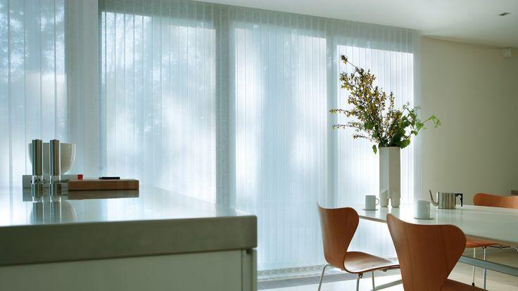 Luxaflex Vertical Blinds -Elegant simplicity for larger windows.  #home decor #kitchen #luxaflex #blinds