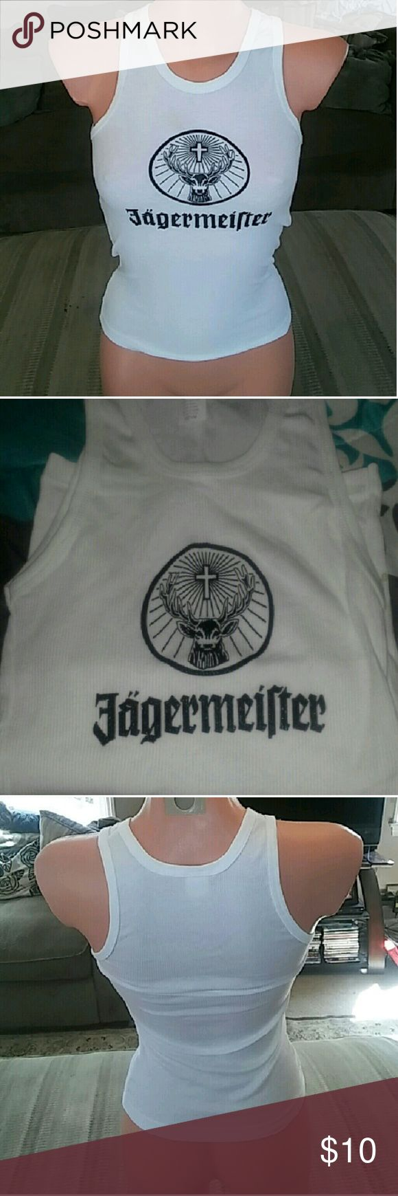 Jagermeister Tank Tops Brand new. Size Medium and XL available!! Please note the size you want and price is for one top only. NOT F21. Just branded for exposure. Forever 21 Tops Tank Tops