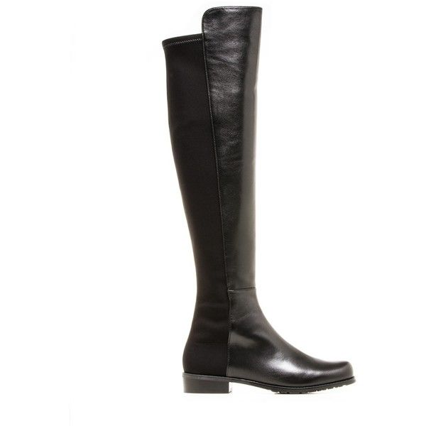 Stuart Weitzman The 5050 Boot (2.705 RON) ❤ liked on Polyvore featuring shoes, boots, over-the-knee boots, over the knee boots, stretch boots, over knee leather boots, thigh high boots and genuine leather boots