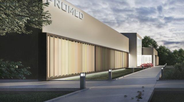 concept of a patient friendly medical center building; project: make Architekci