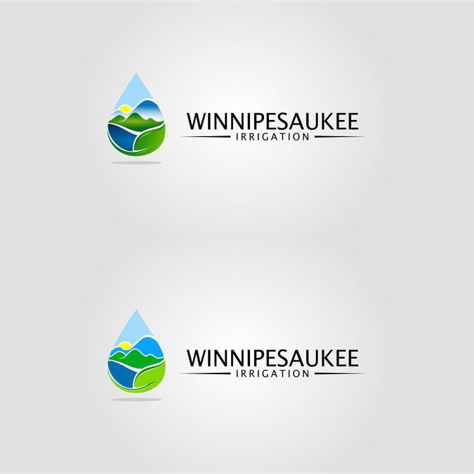 Create a unique Logo for an Irrigation company located near Lake Winnipesaukee, nh by Arayna