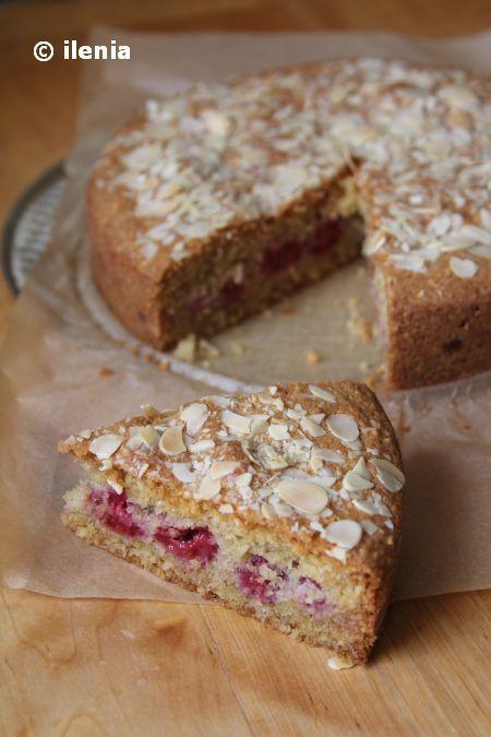 Ciasto migdałowe z malinami / Almond-Raspberry Cake